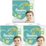 PAMPERS TAILLE 5 BABYDRY 3X74 couches 222 couches