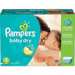 Promodirect 176 couches pampers taille 4 babydry