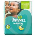 coucche pampers taille 5+ babydry 56 cocuhes promodirect