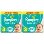 promodirect 200 couches pampers taille 3 babydry