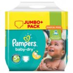 couches pampers taille5+ babydry 112 couches promodirect