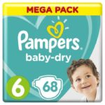 promodirect 68 couches pampers taille 6 babydry